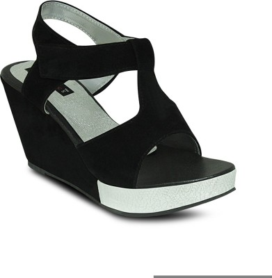 Get Glamr Women Black Wedges
