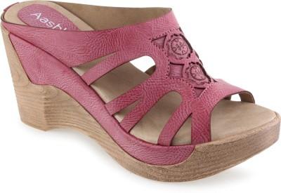 Aashka Women Pink Wedges