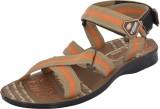 Poddar Men Orange Sandals