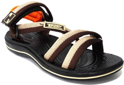 AMVI Boys Orange, Brown Sandals