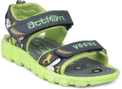 Action Shoes KS-123 Boys, Girls Grey, Green Sandals