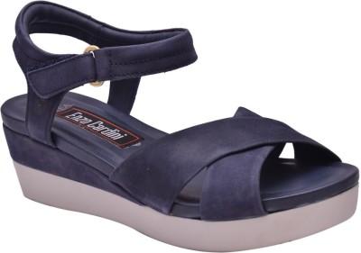 Enzo Cardini Women Blue Heels