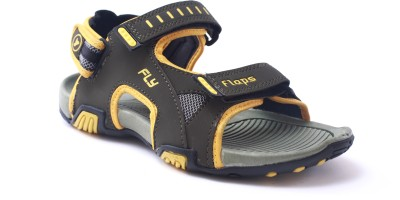 Flaps Men Green, Yellow Sandals