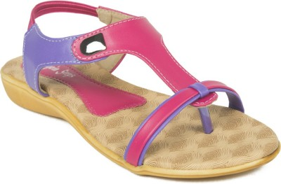 Adjoin Steps Women Pink, Purple Flats