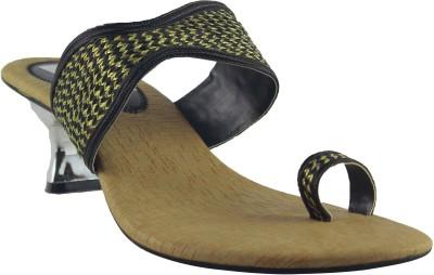 Faith Slip on Women Black Heels