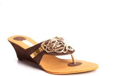 Laila Collections Women Brown Wedges
