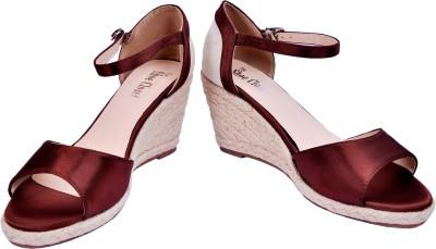 The Shoe Closet Women Brown Wedges