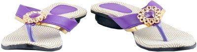 Diovanni Women Purple, Beige Flats
