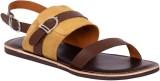 Tortoise Men Dark Brown Sandals