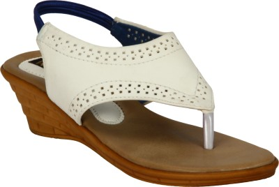 Welson Women White Wedges