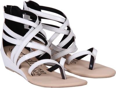 Fashion Mafia Women White Wedges