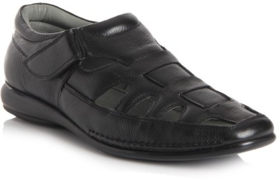 Delize Men Black Sandals