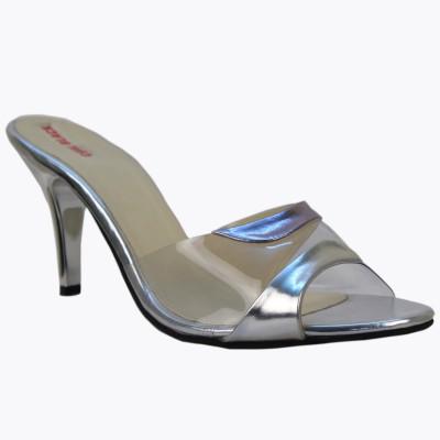 CoalBlack Women Silver Heels