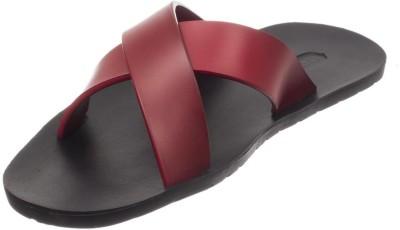Skywalk Boys, Men Black, Red Sandals