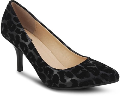 Get Glamr Leopard Women Black Heels
