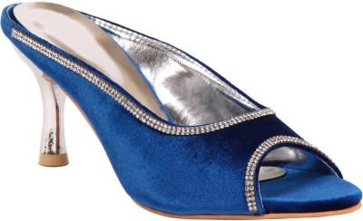 Adorn Women Blue Heels