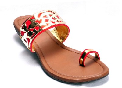 Ajanta Red sandal Women Red Flats