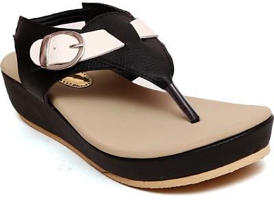 Trendy Women Black Wedges