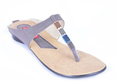 Stiletto Brown color sandals Women Grey Flats