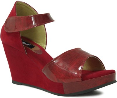 GISOLE Women Red Wedges