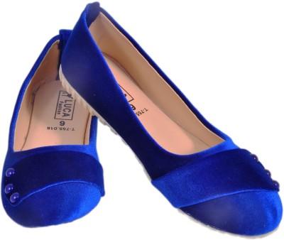 Luca Fashion Women Blue Flats
