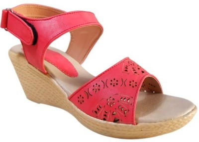 LILY Women Red Wedges
