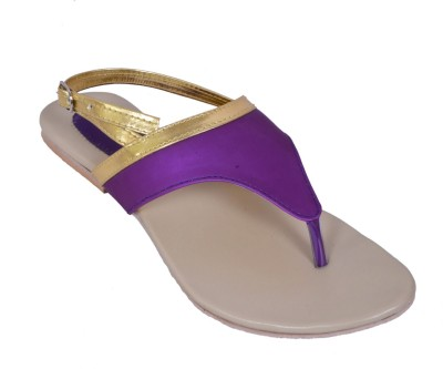 Laila Collection Women Purple Flats