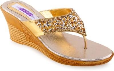Aashka Women Gold Wedges
