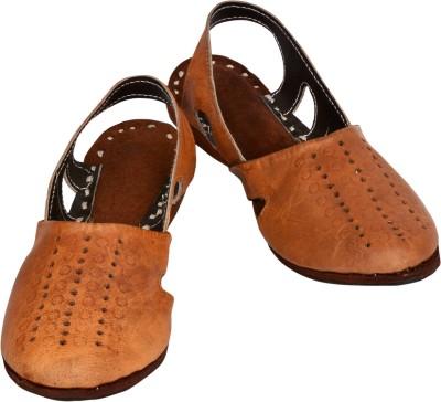 Reevaan Girls Brown Flats