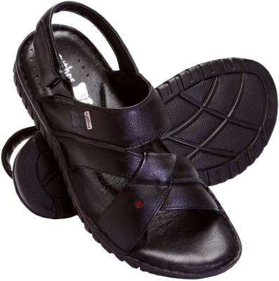 Cythos Axis-111 Men Black Sandals