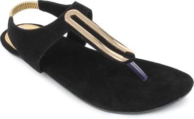 SRS Women Black Flats