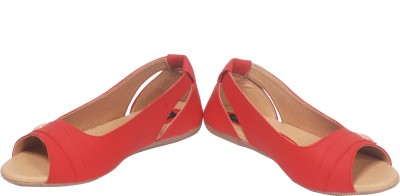 HITANSH INDIA Girls Red Flats