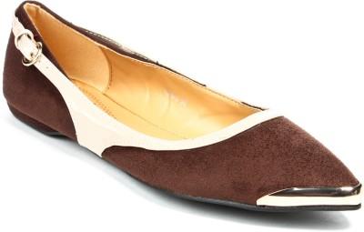 Jove Women Beige, Brown Flats