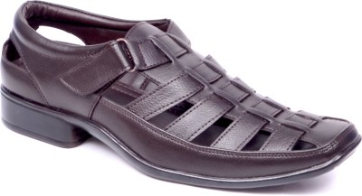 El Paso Men Brown Sandals