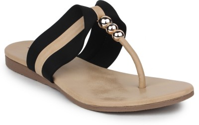 Star Style Women Black Flats