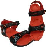 Fittos Men RED-BLACK Sandals