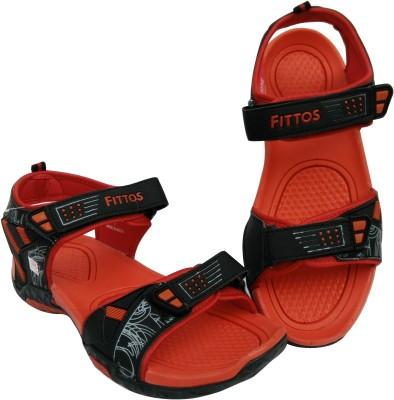 FITTOS Men Red, Black Sandals