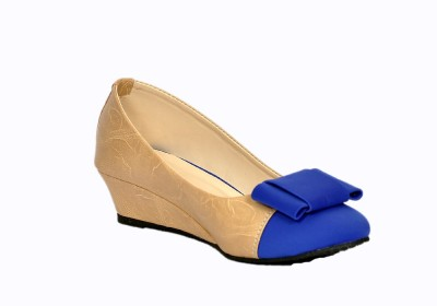 Stylish Step Women Blue Wedges