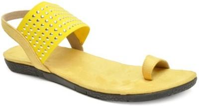 Darcey Girls Yellow Flats