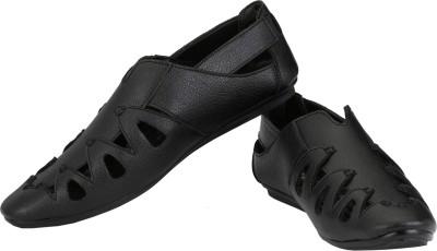 Little Step Men Black Sandals