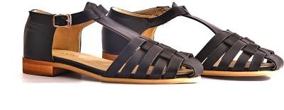 vanson Women Black Flats