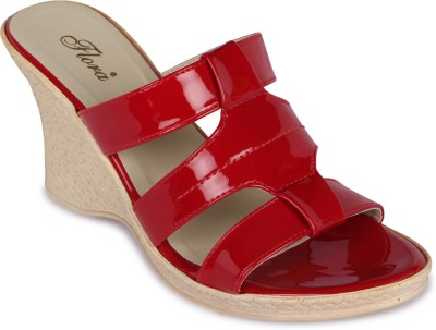 Flora Women Red Wedges