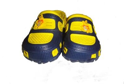 Pu-asmaa Boys, Girls Navy, Yellow Sandals