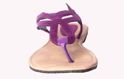 Tatter Angel Women Purple Flats