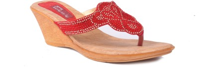 Vaishnovi Women Red Wedges