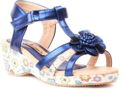 Foot Candy Girls Blue Sandals