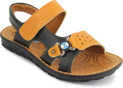 PHEDARUS Boys Tan, Black Sandals