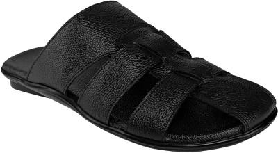 Shoe Bazar Men Black Sandals