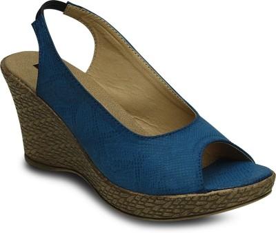 Kielz Women Blue Wedges
