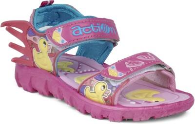 Action KS-124-PINK Boys, Girls Pink Sandals